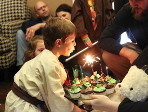 """Star Wars """"May the FOURTH be with you"""" 4th Birthday Party via Kara's Party Ideas karaspartyideas.com #star #wars #party #themed #ideas #4th #birthday #cake #decorations #favors #supplies (8)"""