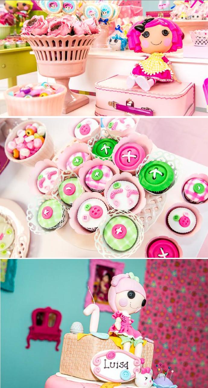 LalaLoopsy themed birthday party via Kara's Party IDeas karaspartyideas.com #lala #loopsy #party #themed #ideas #cake #idea