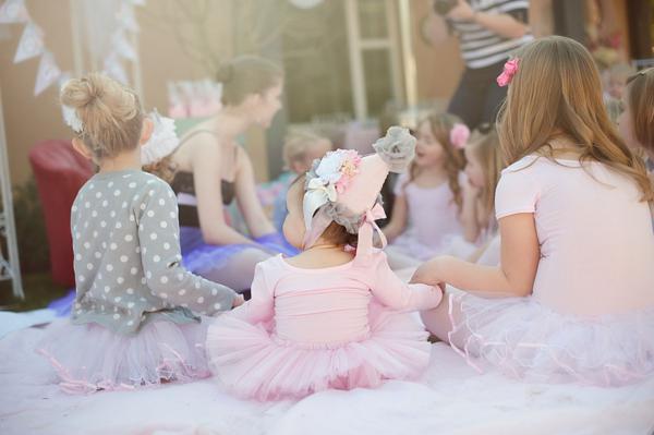 Kara's Party Ideas Pretty Pink Ballerina Ballet Dance Girl ...