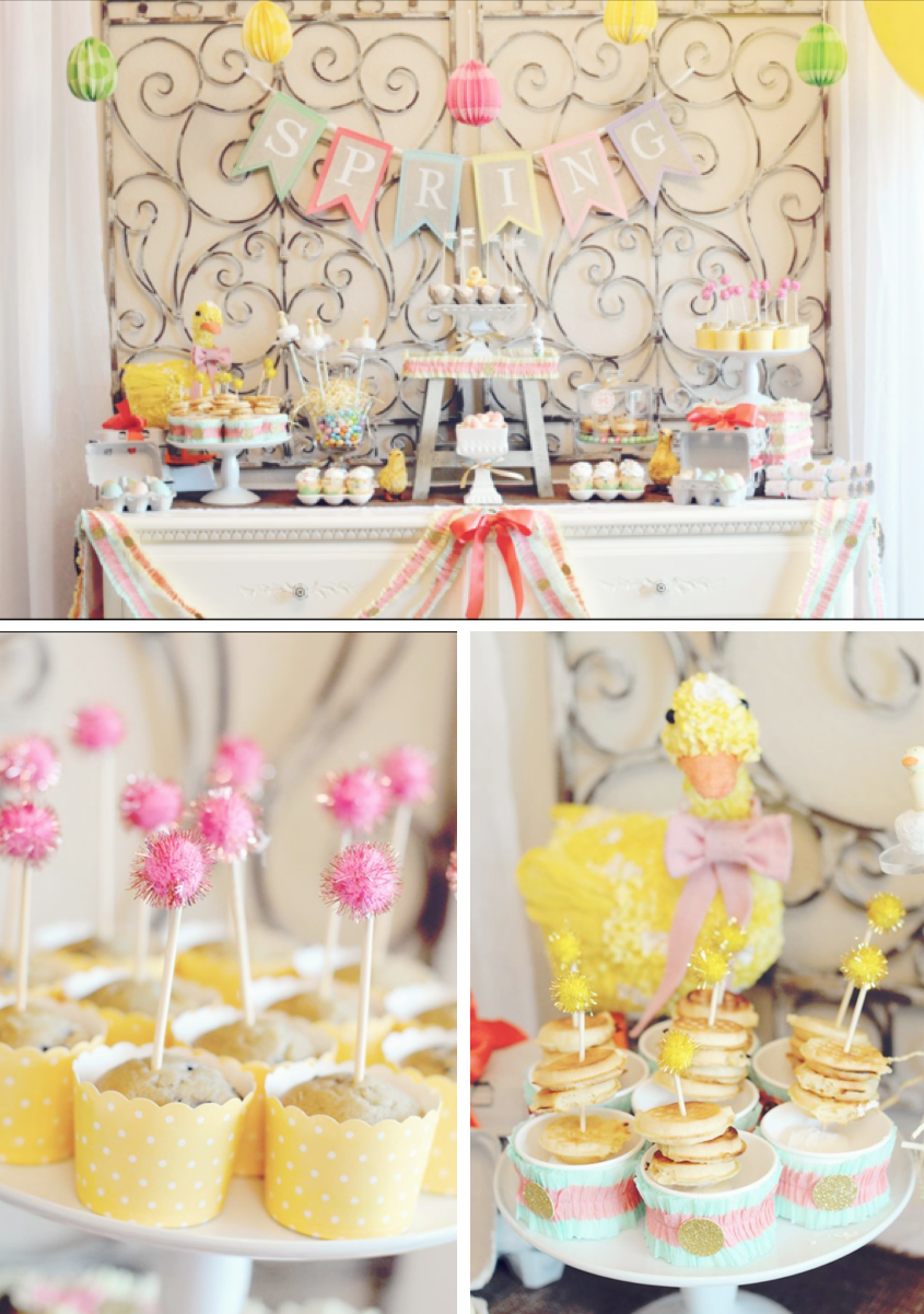 Karas Party Ideas Little Duckling Duck Easter Spring Girl