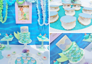 Little Mermaid Under the Sea themed birthday party via Kara's Party Ideas karaspartyideas.com #ariel #mermaid #themed #birthday #party #ideas #cake #decor #supplies (1)