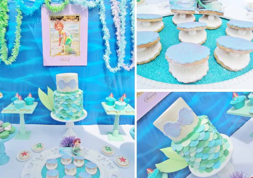 Karas Party Ideas Little Mermaid Under the Sea themed birthday