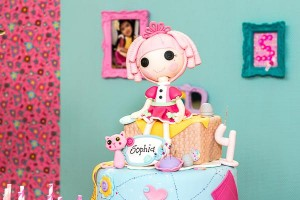 LalaLoopsy themed birthday party via Kara's Party IDeas karaspartyideas.com #lala #loopsy #party #themed #ideas #cake #idea (6)