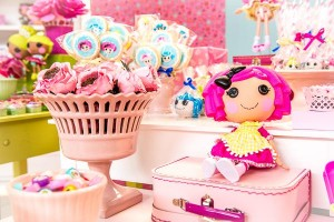 LalaLoopsy themed birthday party via Kara's Party IDeas karaspartyideas.com #lala #loopsy #party #themed #ideas #cake #idea (17)