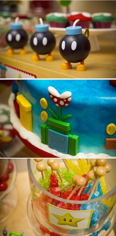 Karas Party Ideas Mario TimeVideo Game Boy 6th Birthday Planning