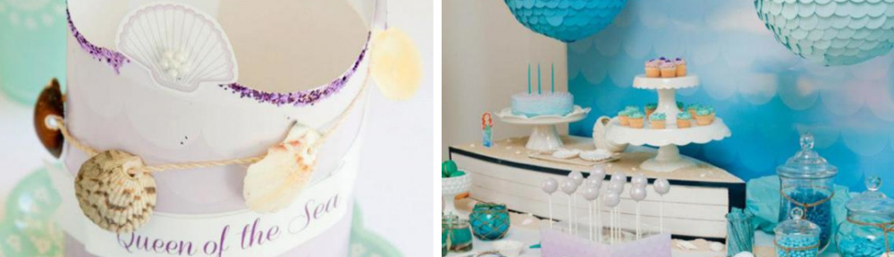 Mermaid beach under the sea themed birthday party via Kara's Party Ideas karaspartyideas.com #mermaid #under #sea #ocean #party #ideas #cake #beach