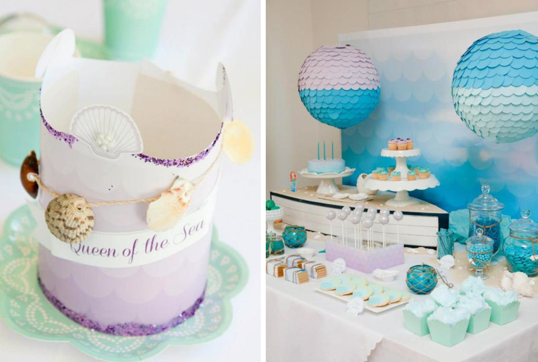 Beach Themed Party Decorating Ideas Part - 34: Karau0027s Party Ideas Mermaid Beach Ocean Girl Ariel 5th Birthday Party  Planning Ideas