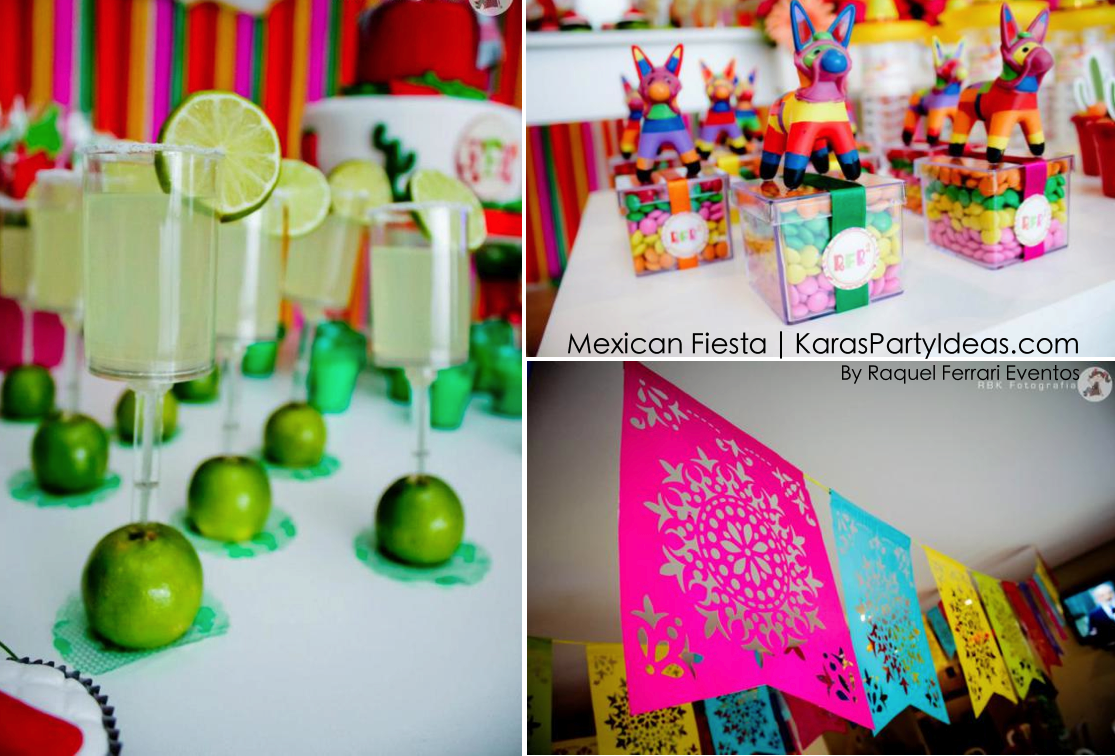 Kara 39 s party ideas mexican fiesta themed family adult for Adult birthday decoration ideas