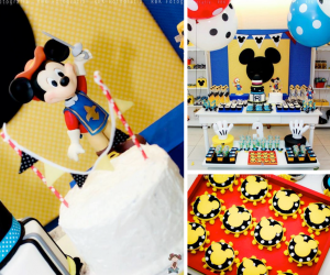 Mickey Mouse Musketeer + Mouseketeer themed birthday party via Kara's Party Ideas Mickey Mouse Party Supplies Shop (1)