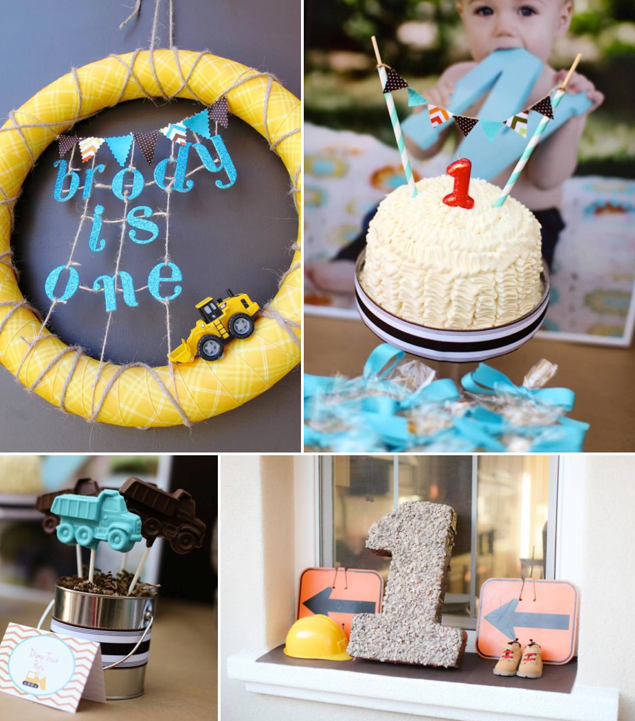Karas Party Ideas Construction Truck Themed 1st Birthday Party