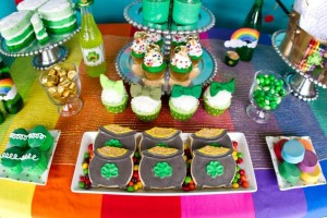 St Patrick's Day Rainbow Luck O The Irish Themed Party via Kara's Party Ideas karaspartyideas.com #st #patrick's #day #party #irish #ideas #supplies #decorations #cake #dessert #treats #kids (24)