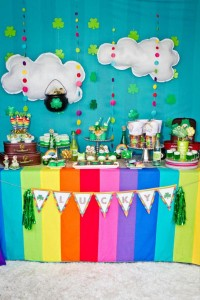 St Patrick's Day Rainbow Luck O The Irish Themed Party via Kara's Party Ideas karaspartyideas.com #st #patrick's #day #party #irish #ideas #supplies #decorations #cake #dessert #treats #kids (18)