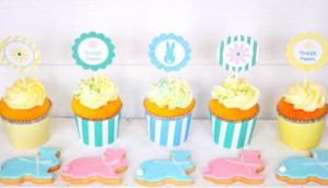 Pastel Easter party dessert table via Kara's Party Ideas karaspartyideas.com #easter #egg #hunt #party #idea