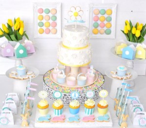 Pastel Easter party via Kara's Party Ideas karaspartyideas.com #easter #egg #hunt #party #idea
