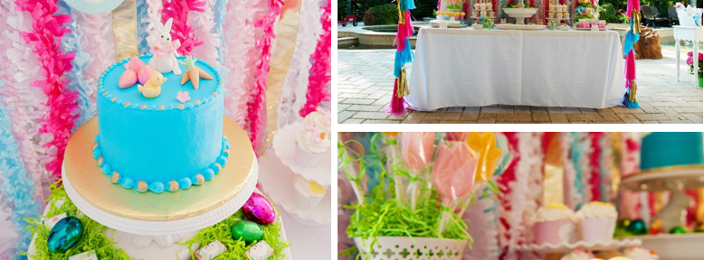 Pastel Easter themed spring party via Kara's Party Ideas karaspartyideas.com #classic #easter #pastel #party #spring #ideas #cake #decorations #tablescape #idea (1)