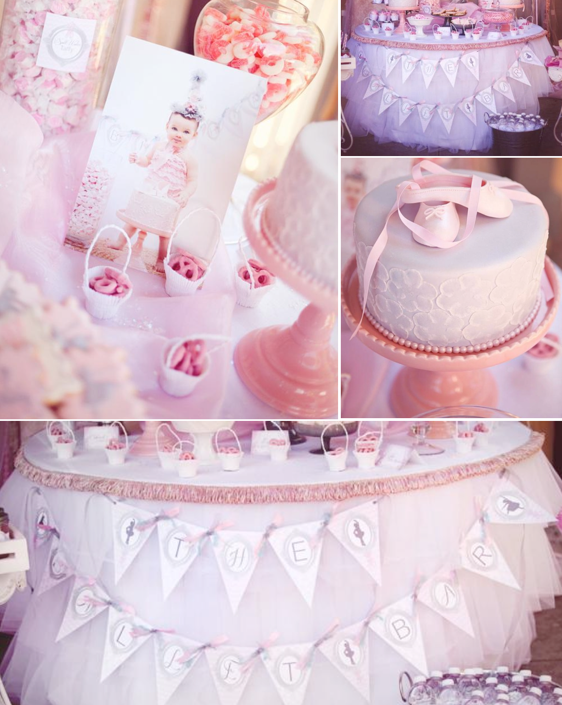 Kara\'s Party Ideas Pretty Pink Ballerina Ballet Dance Girl Birthday ...