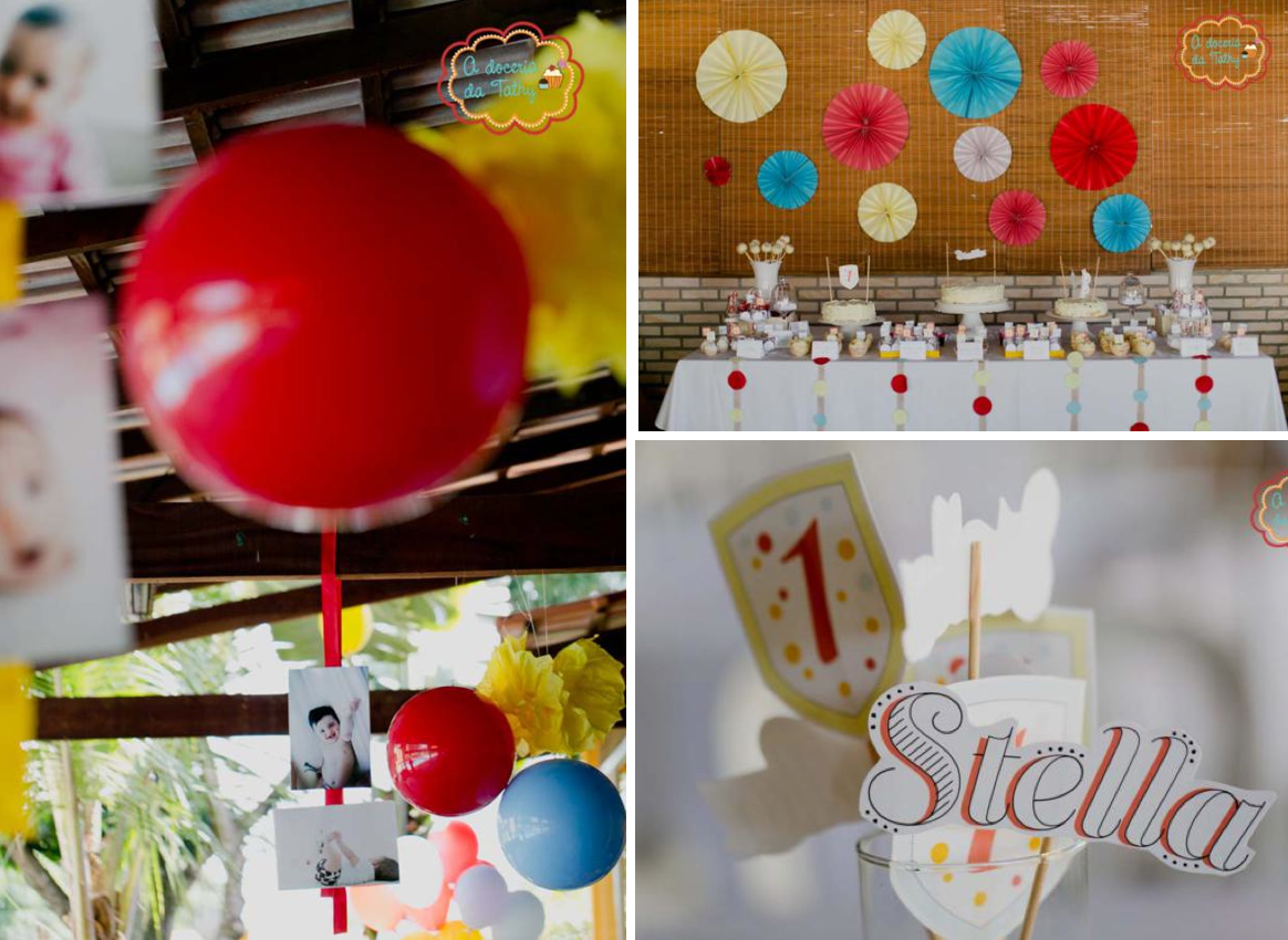 This colorful polka dot carnival first birthday party was submitted by