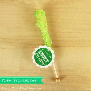 St Patrick's Day Free gift tags party printables via Kara's Party Ideas karaspartyideas.com #st #patrick's #day #free #printable #tags #gift #ideas