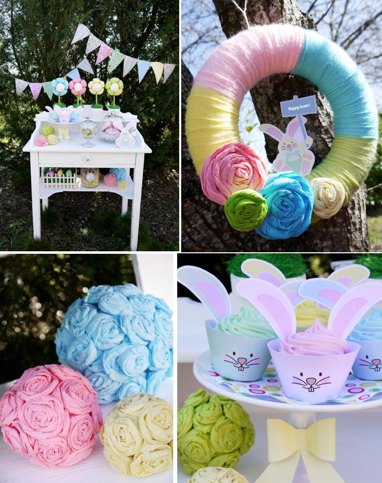 Karas Party Ideas Kids Pastel Easter Bunny Egg Hunt Boy Girl Brunch