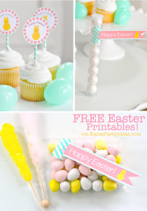 FREE Easter Party Printable Tags + Cupcake Toppers via Kara's Party Ideas KarasPartyIdeas.com-10 (1)