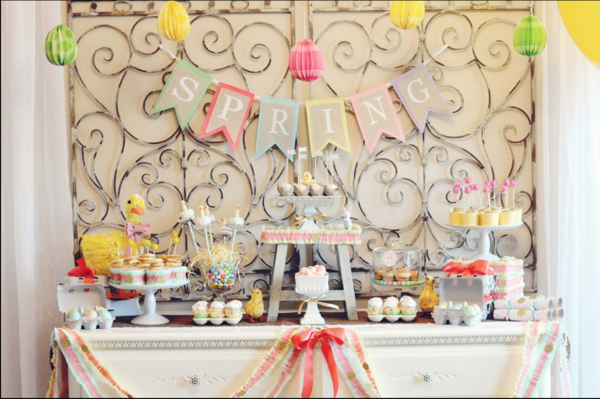 Little Duckling Easter Spring Party via Kara's Party Ideas karaspartyideas.com #easter #spring #little #duckling #party #idea #decor #food #cake (13)