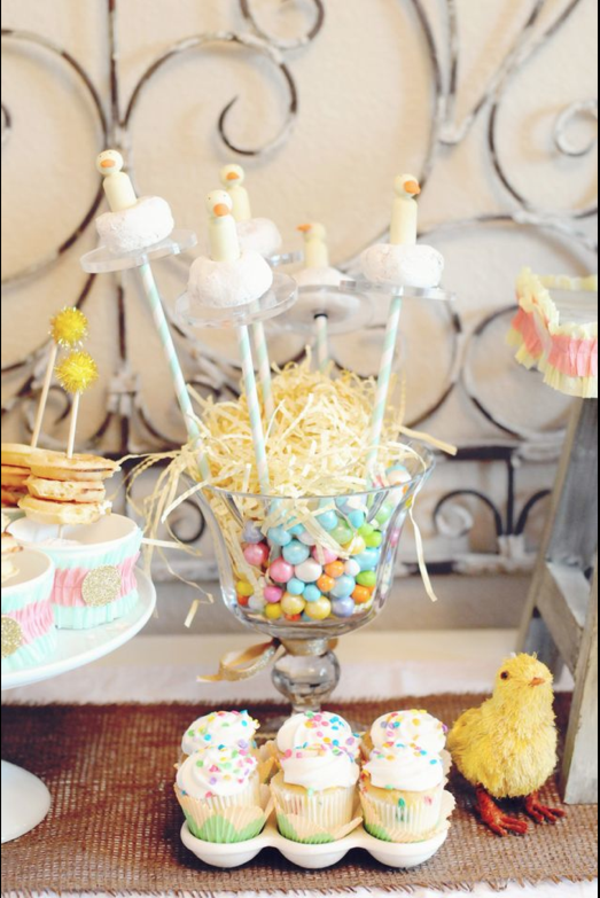 Little Duckling Easter Spring Party via Kara's Party Ideas karaspartyideas.com #easter #spring #little #duckling #party #idea #decor #food #cake (2)