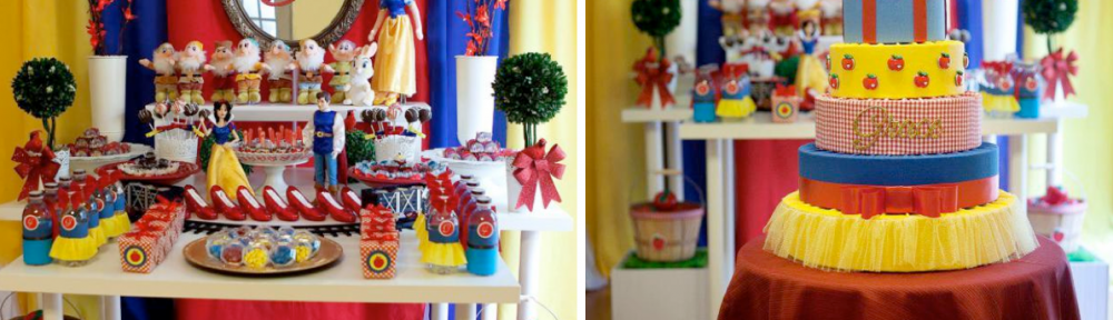 Snow White themed birthday party via Kara's Party Ideas karaspartyideas.com #snow #white #themed #birthday #party #ideas