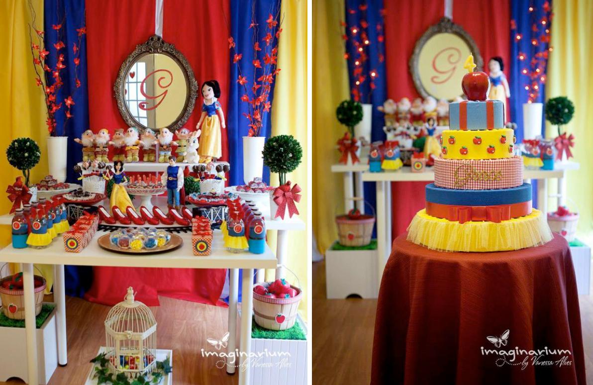 Karas Party Ideas Snow White 4th Birthday Party