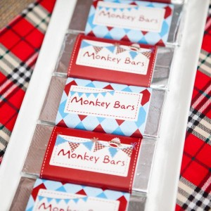 Sock Monkey themed 1st birthday party via Kara's Party Ideas Cake Decorations Food Treats Desserts Banner Printables Supplies Planning Tutorials How To Idea | KarasPartyIdeas.com (9)