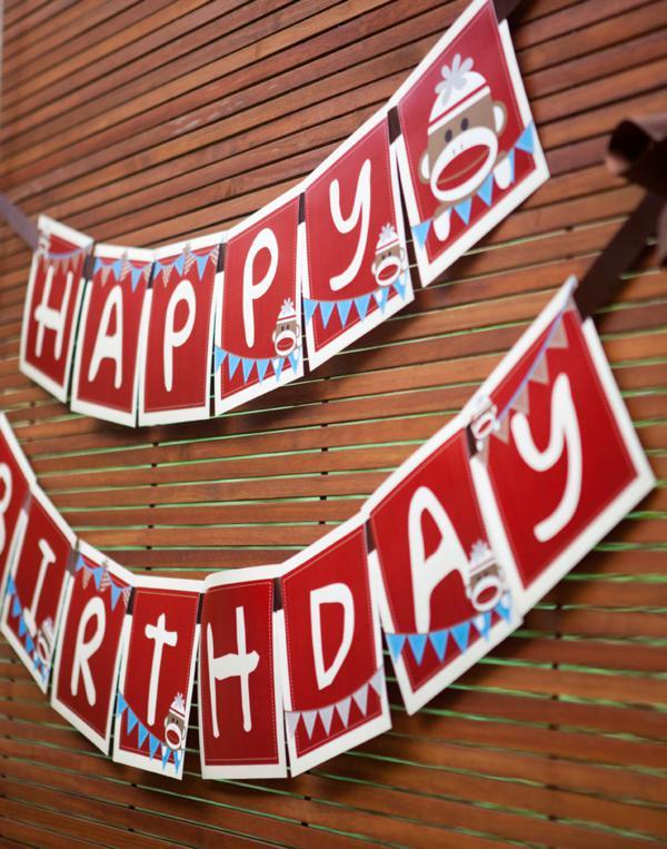 Karas Party Ideas Sock Monkey Themed 1st Birthday Party