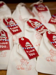 Sock Monkey themed 1st birthday party via Kara's Party Ideas Cake Decorations Food Treats Desserts Banner Printables Supplies Planning Tutorials How To Idea | KarasPartyIdeas.com (3)