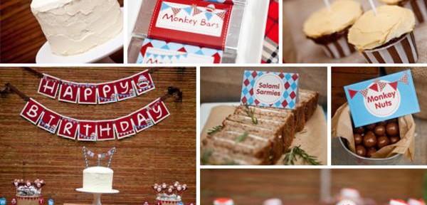Sock Monkey themed 1st birthday party via Kara's Party Ideas Cake Decorations Food Treats Desserts Banner Printables Supplies Planning Tutorials How To Idea | KarasPartyIdeas.com (14)