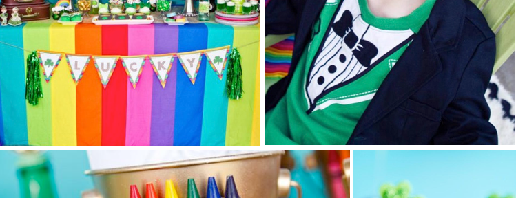 St Patrick's Day Rainbow Luck O The Irish Themed Party via Kara's Party Ideas karaspartyideas.com #st #patrick's #day #party #irish #ideas #supplies #decorations #cake #dessert #treats #kids (1)