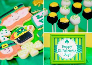 St Patrick's Day Shamrock Themed Party via Kara's Party Ideas karaspartyideas.com #shamrock #st #patrick's #day #patricks #party #ideas #food #dessert #kids #treat