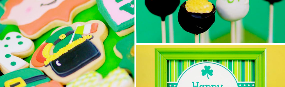 St Patrick's Day Shamrock Themed Party via Kara's Party Ideas karaspartyideas.com #shamrock #st #patrick's #day #patricks #party #ideas #food #dessert #kids #treat