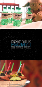 Star Wars may the FOURTH be with you birthday themed party via Kara's Party Ideas karaspartyideas.com #star #wars #birthday #party #ideas #idea