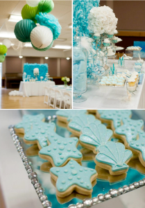 Under the Sea Mermaid 3rd Birthday Party via Kara's Party Ideas KarasPartyIdeas.com #mermaid #under #sea #birthday #party #cake #decorations #idea #supplies (1)