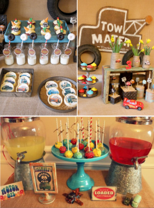 Vintage CARS Radiator Springs themed Birthday Party via Kara's Party Ideas #cars #themed #birthday #party #cake #radiator #springs #towmater #ideas