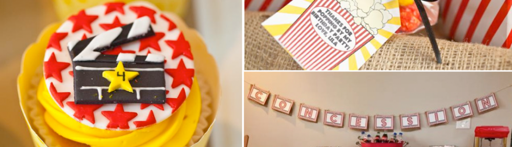 Vintage Movie Themed Birthday Party via Kara's Party Ideas KarasPartyIdeas.com #vintage #movie #party #birthday #planning #ideas #cake #decorations #favors #idea #supplies (1)