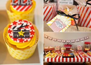 Vintage Movie Themed Birthday Party via Kara's Party Ideas KarasPartyIdeas.com #vintage #movie #party #birthday #planning #ideas #cake #decorations #favors #idea #supplies (1)