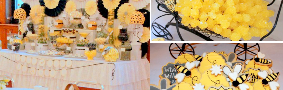 What will it BEE Baby Shower via Kara's Party Ideas karaspartyideas.com #gender #reveal #baby #shower #what #will #it #BEE #idea (1)