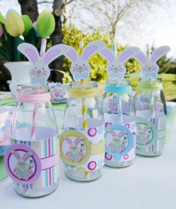 Kids' Pastel Easter Bunny Themed Brunch via Kara's Party Ideas karaspartyideas.com #easter #brunch #dinner #ideas #party #kids #bunny (20)