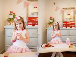 Vintage Strawberry + Strawberry Shortcake themed birthday party via Kara's Party Ideas.com #vintage #strawberry #birthday #party #shortcake #themed #girl #1st #baby #shower #planning #ideas #cake #idea #decor (18)
