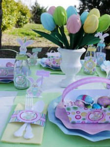 Kids' Pastel Easter Bunny Themed Brunch via Kara's Party Ideas karaspartyideas.com #easter #brunch #dinner #ideas #party #kids #bunny (6)