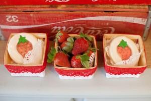 Vintage Strawberry + Strawberry Shortcake themed birthday party via Kara's Party Ideas.com #vintage #strawberry #birthday #party #shortcake #themed #girl #1st #baby #shower #planning #ideas #cake #idea #decor (15)