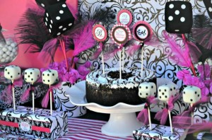 Pink BUNCO themed birthday party via Kara's Party Ideas KarasPartyIdeas.com #pink #bunco #themed #birthday #party #ideas #idea (32)