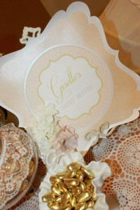 Vintage Peach and Gold baby shower via Kara's Party Ideas KarasPartyIdeas.com #vintage #peach #gold #party #idea #baby #shower (37)
