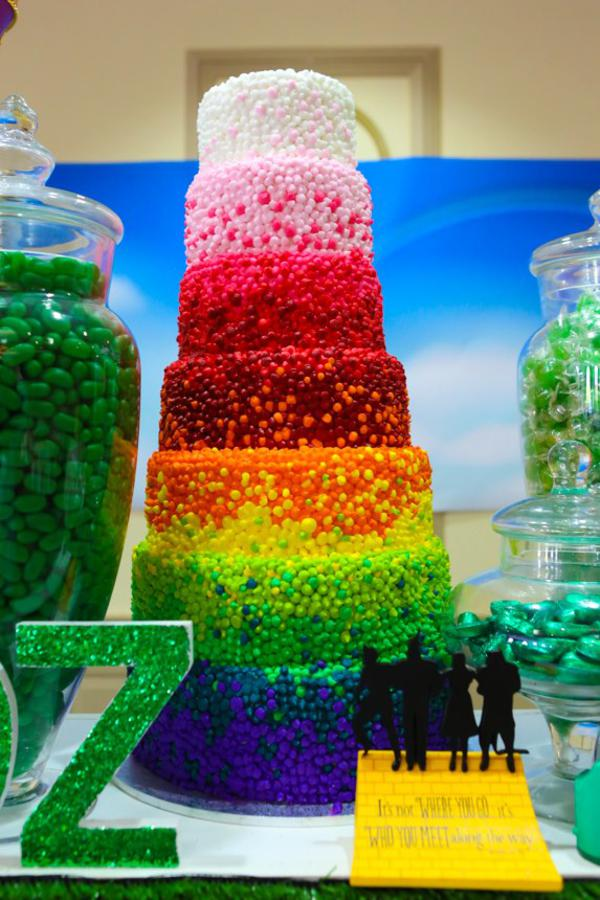 Kara\'s Party Ideas Wizard of Oz Rainbow Wedding Party Decorations ...