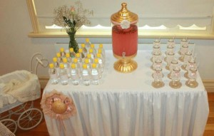 Vintage Peach and Gold baby shower via Kara's Party Ideas KarasPartyIdeas.com #vintage #peach #gold #party #idea #baby #shower (36)