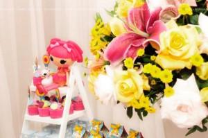 LalaLoopsy themed birthday party via Kara's Party Ideas KarasPartyIdeas.com #lalaloopsy #nanjaloopsy #birthday #party #ideas #cake #supplies #idea #favors #table #dessert (1) (49)